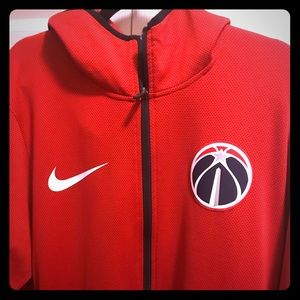 Nike Wizards red on-court zip-up hoodie